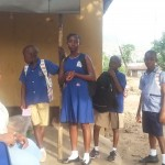 Some of the 40 children in our uniform scheme, back at school for the first time since July
