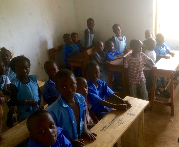 Class at Bolima school for orphans