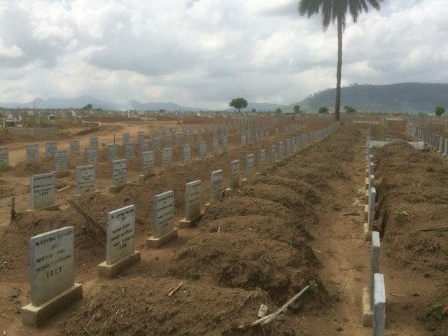 Ebola cemetery: section for children under 5 years of age.