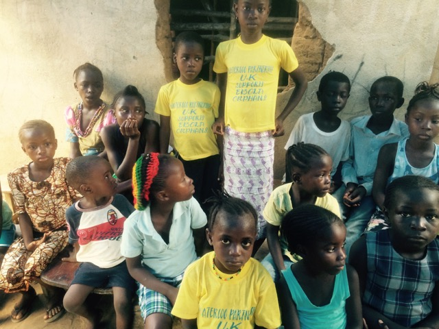 Orphans at the meeting with guardians at Monkey Bush.
